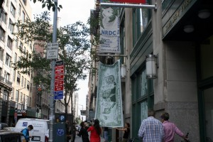 <em>Outside NRDC's New York City headquarters, Sept. 24</em>