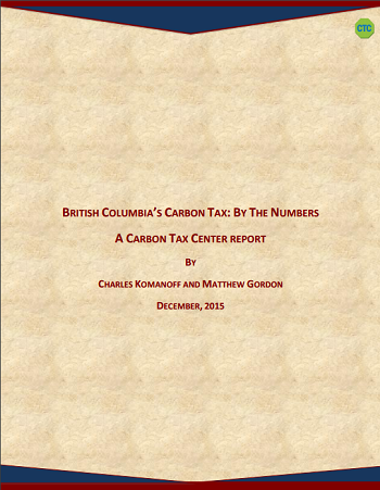 Read CTC's new report on British Columbia's carbon tax