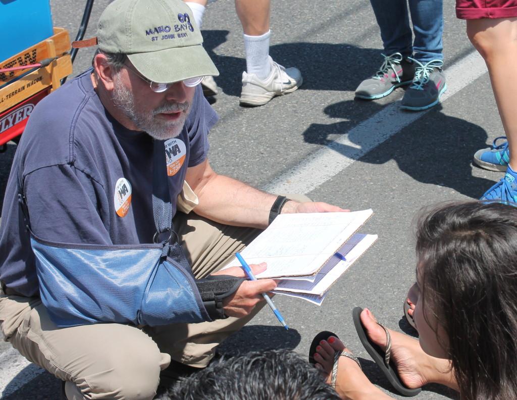 Seattle, June 2015: Petitioning for Carbon Washington.