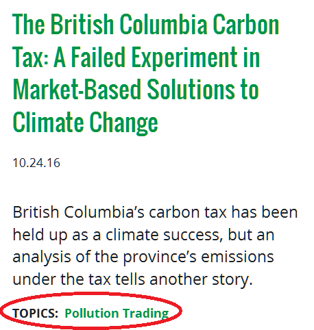 Shouldn't you understand what a carbon tax is before you castigate it?
