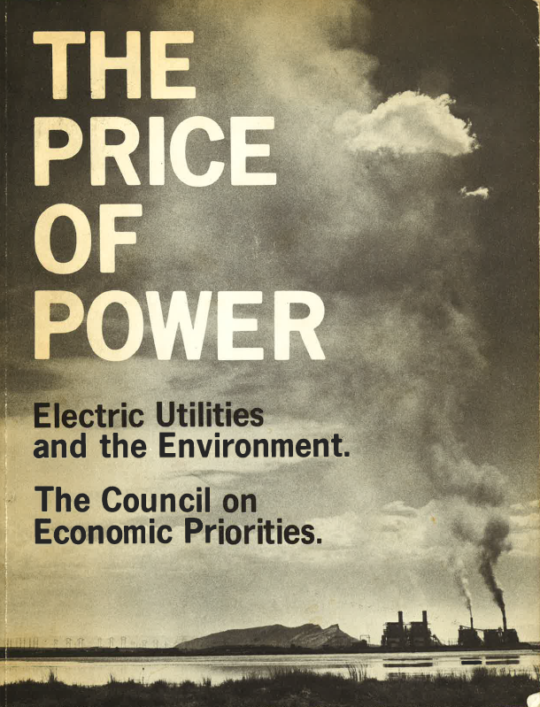 We've been fighting fossil fuels for a long time. I co-authored this report on coal pollution in 1972.