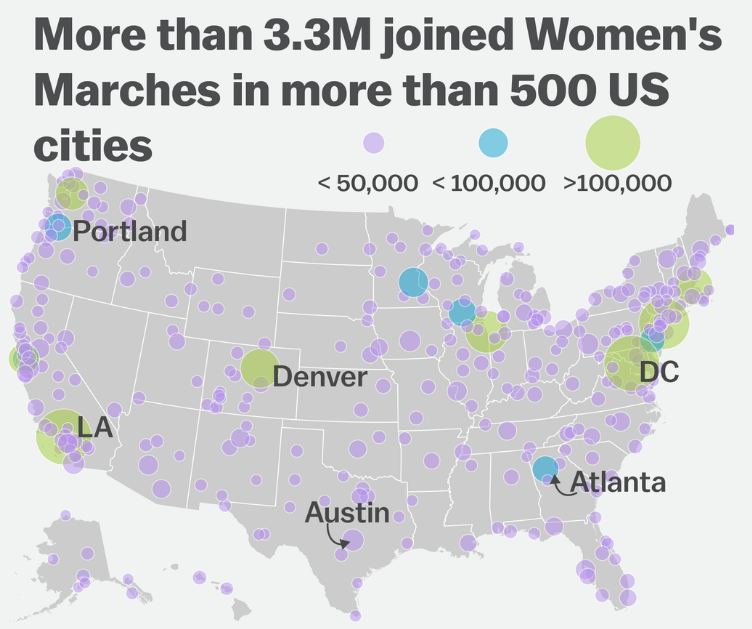 Map by Vox from figures compiled by Jeremy Pressman and Erica Chenoweth.