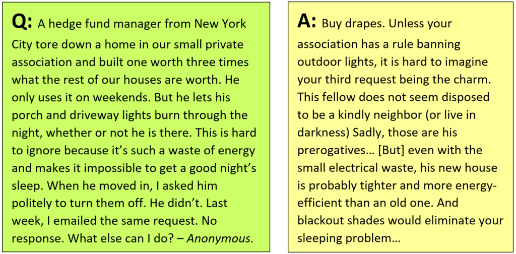 "From Feb. 5 Sunday NY Times, under heading ""Waste of Energy"" (see text for link)"